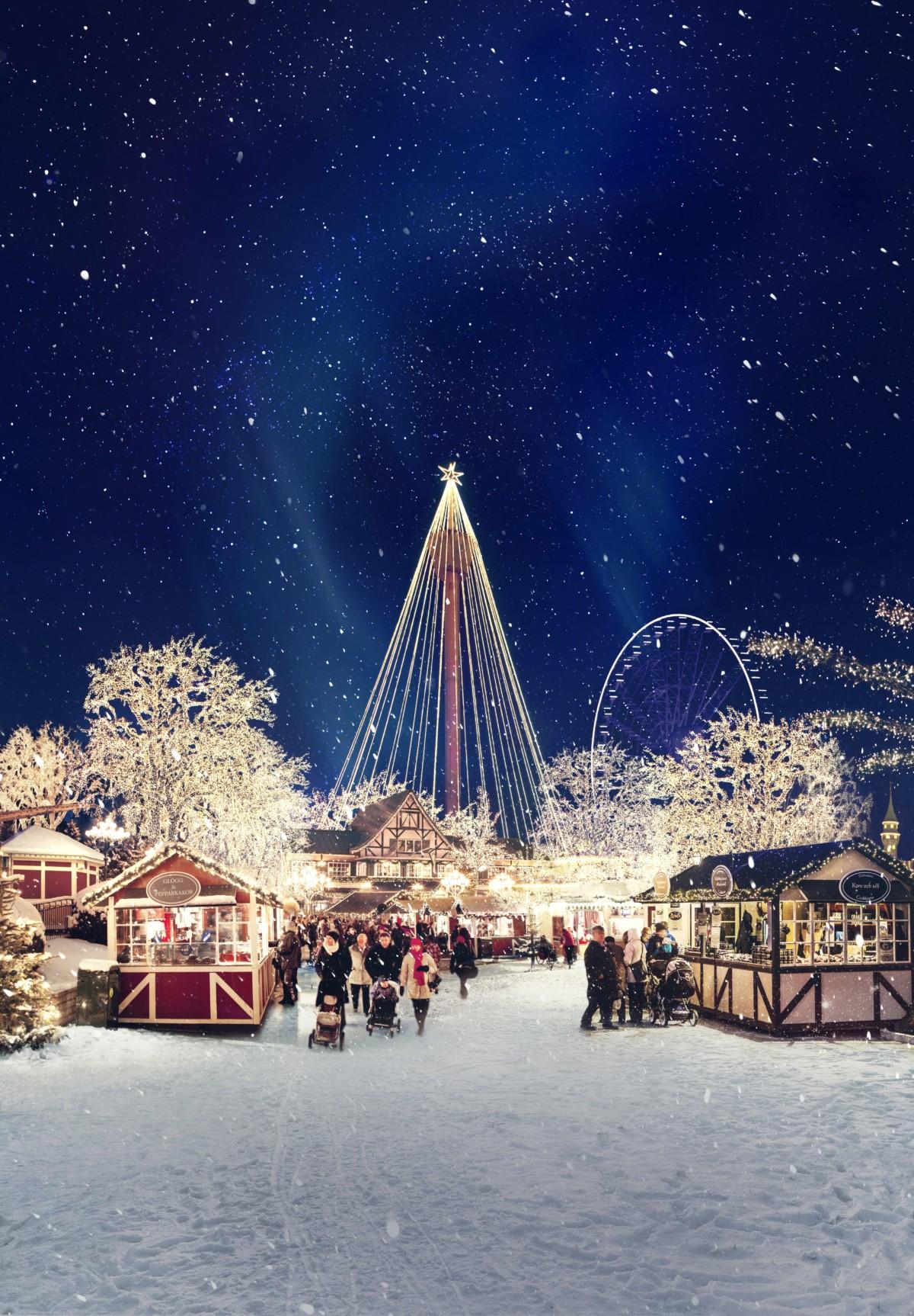 Pressebilde fra jul på Liseberg