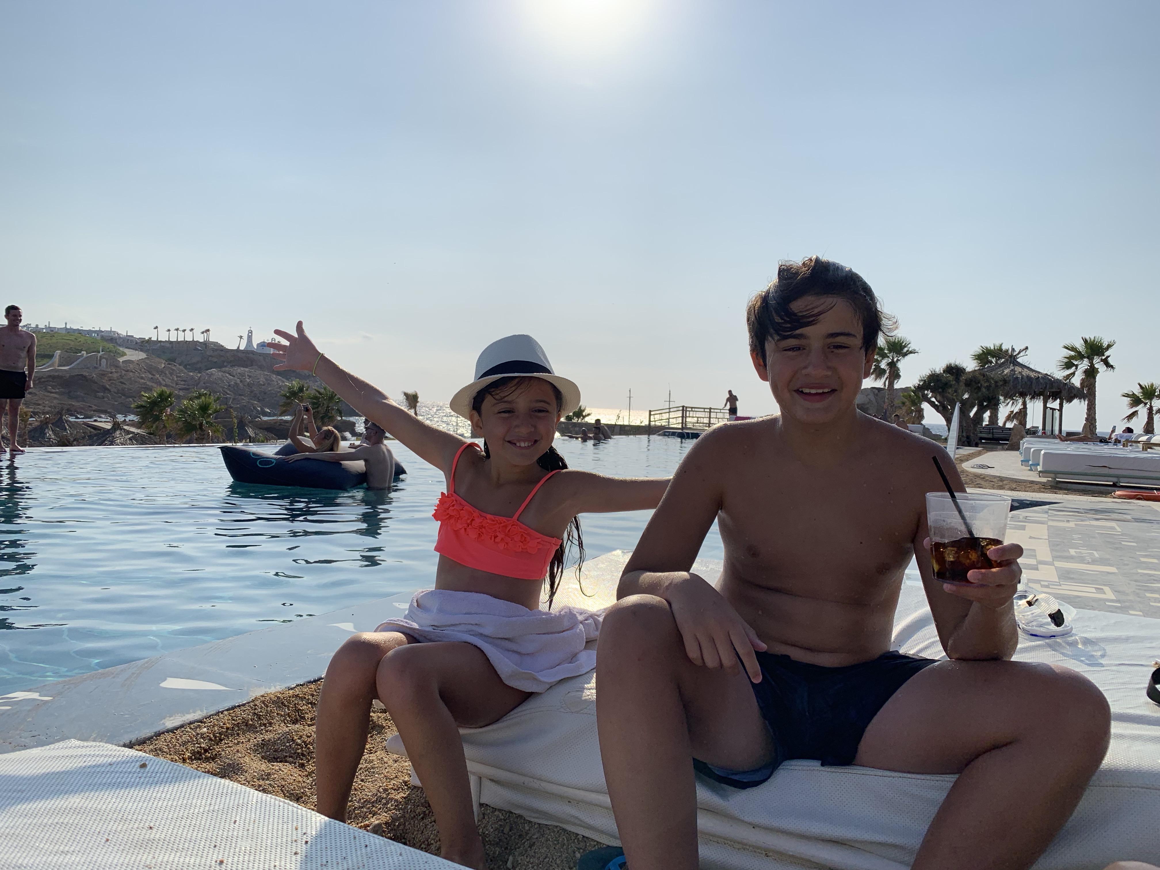 Syden-Leo og Jasmine på Ios!! Jennifer Moi & Sydenbarna Blogg...
