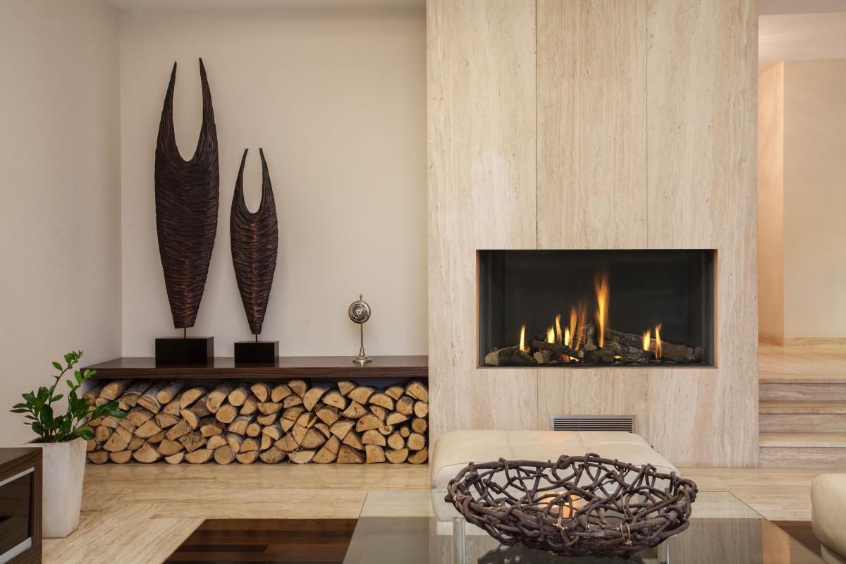 rustic-fireplace-decor-ideas-gas-fire-place-decoration-wooden-plat-form-twin-oak-ornament-rectangle-wooden-table-base-log-wood-shelves-white-plant-pot-square-glass-c