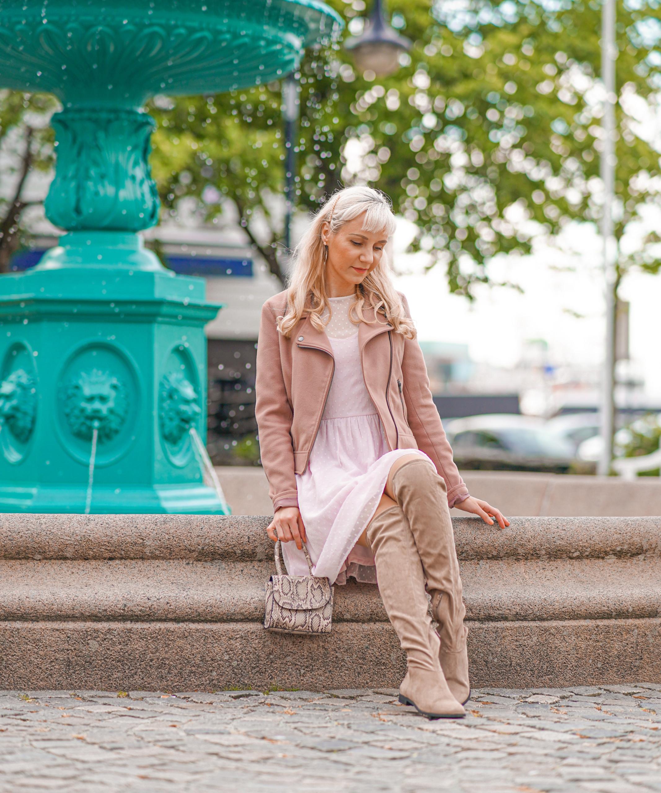 rosa kjole