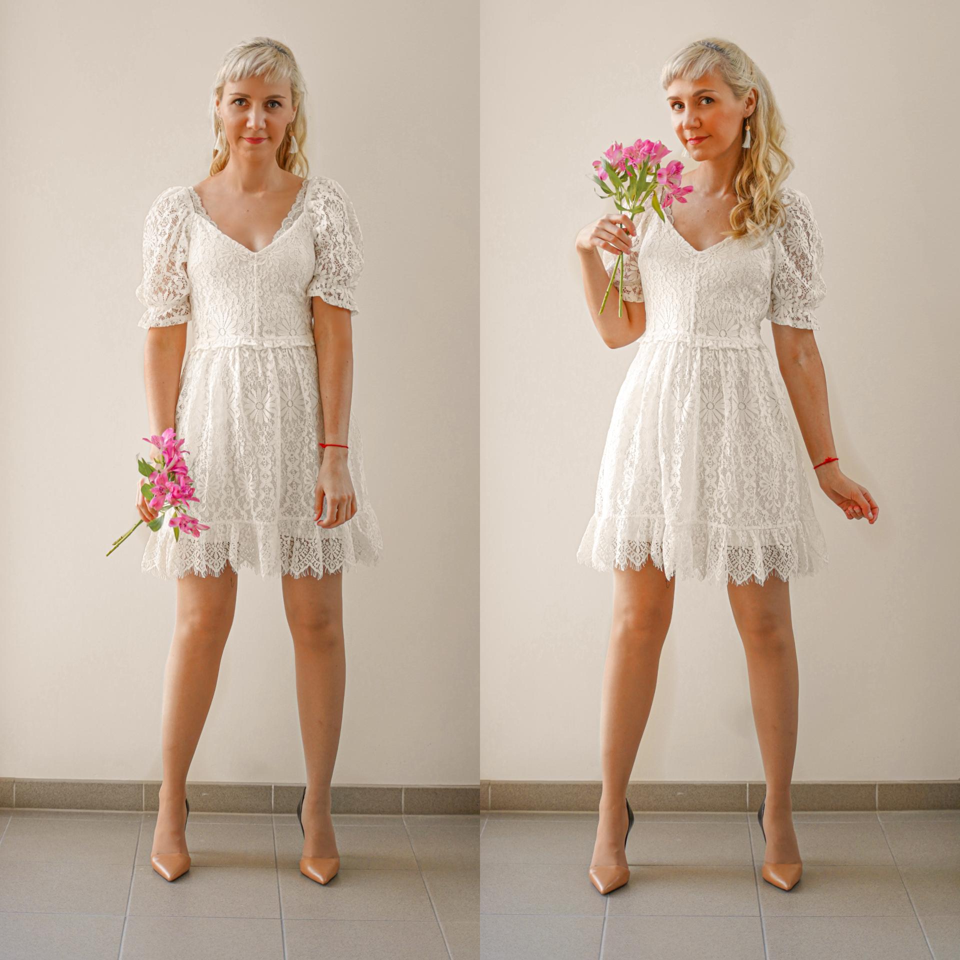 whites kjole outfit