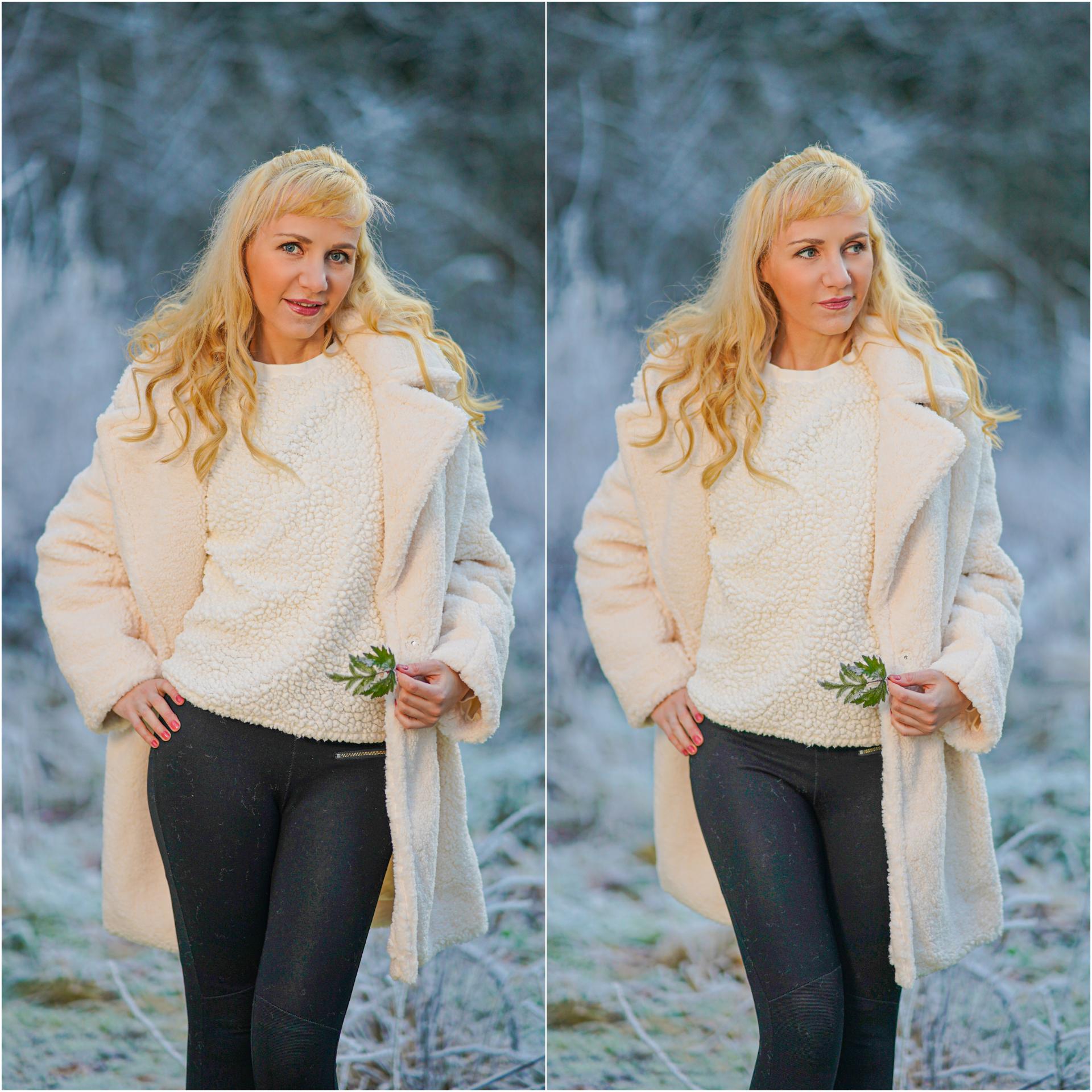 outfit hvit kåpe