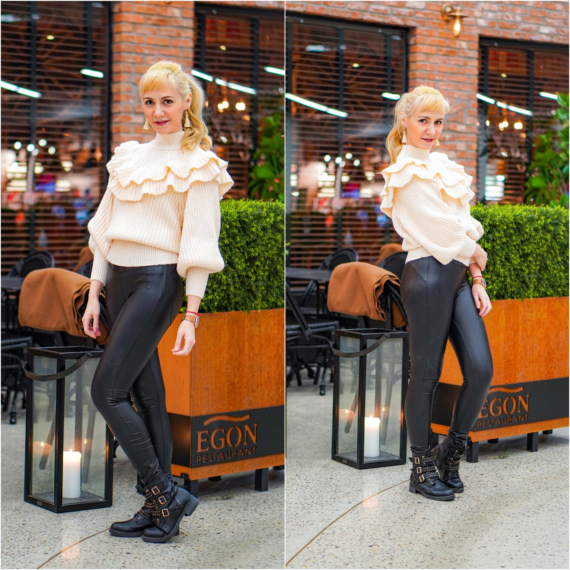 outfit hvit genser
