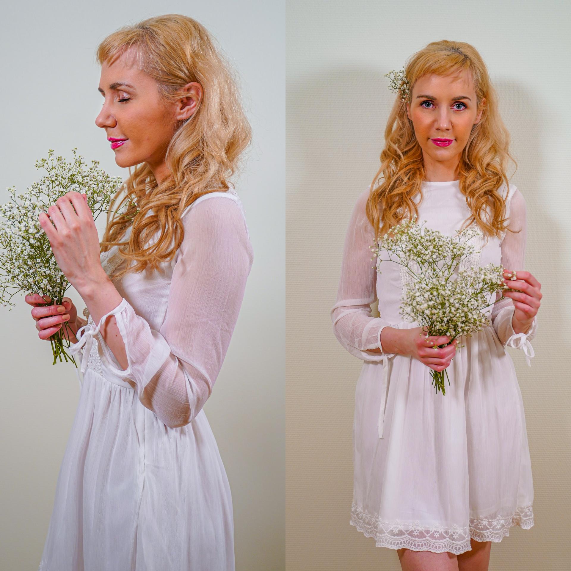 Hvitt kjole