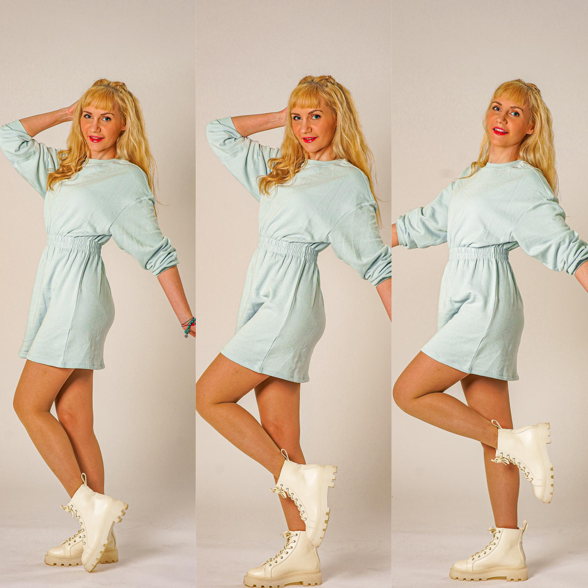 blå kjole HM