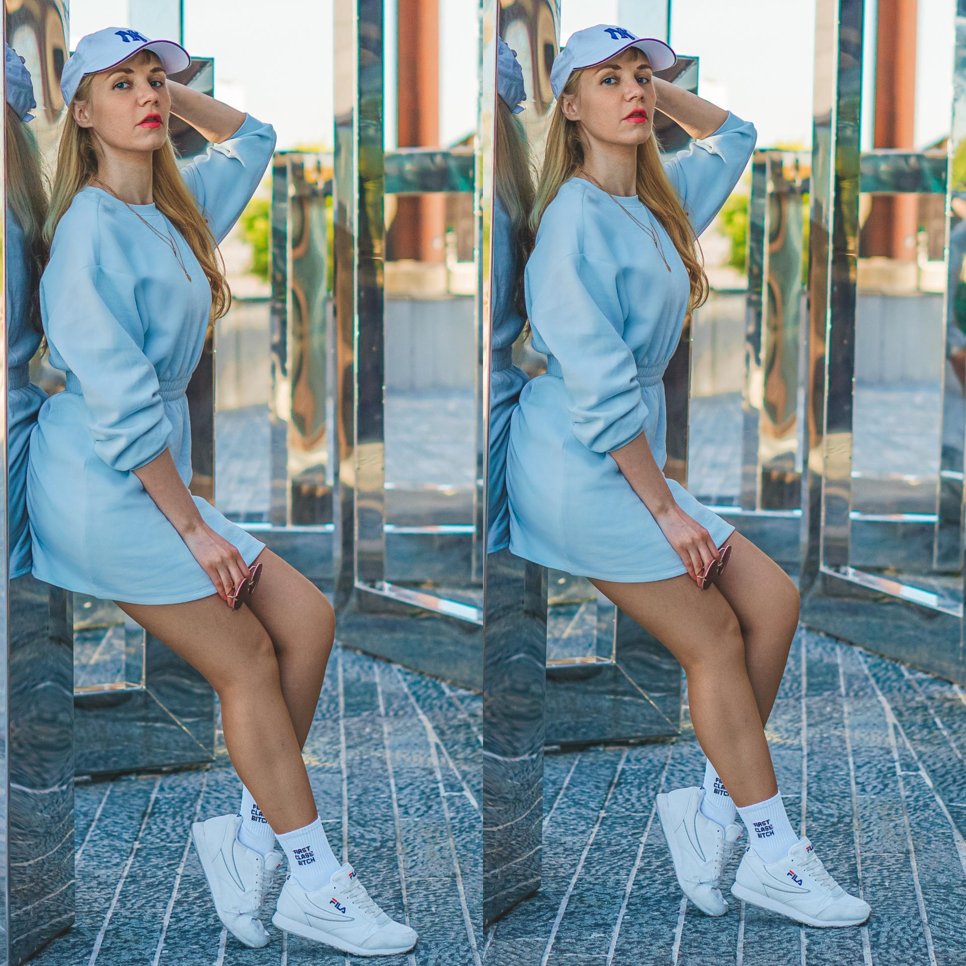 sommer blå kjole