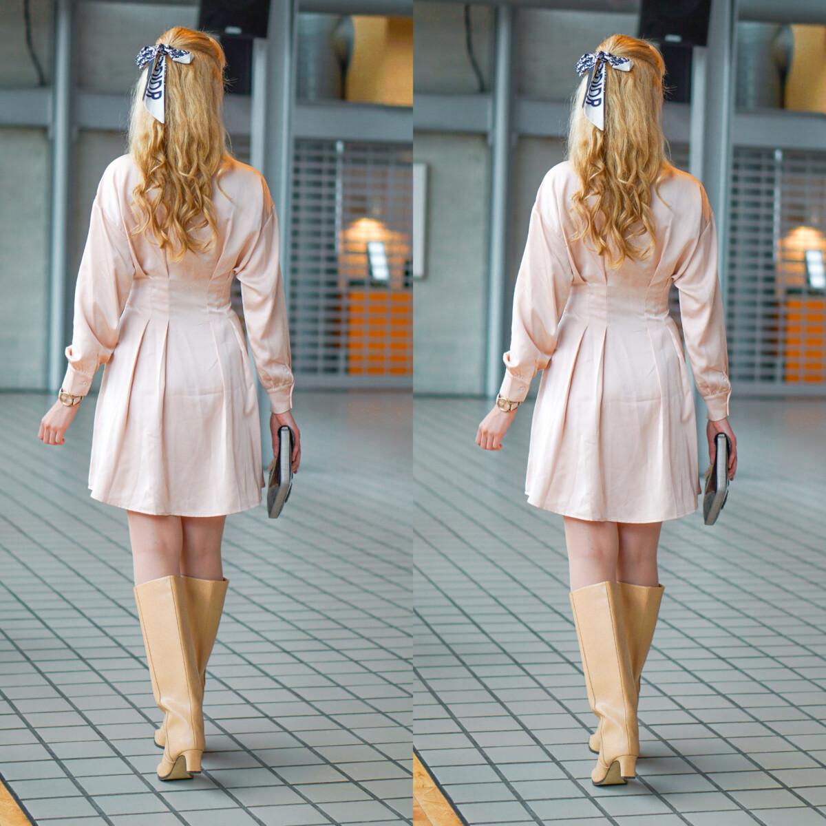 beige kjole