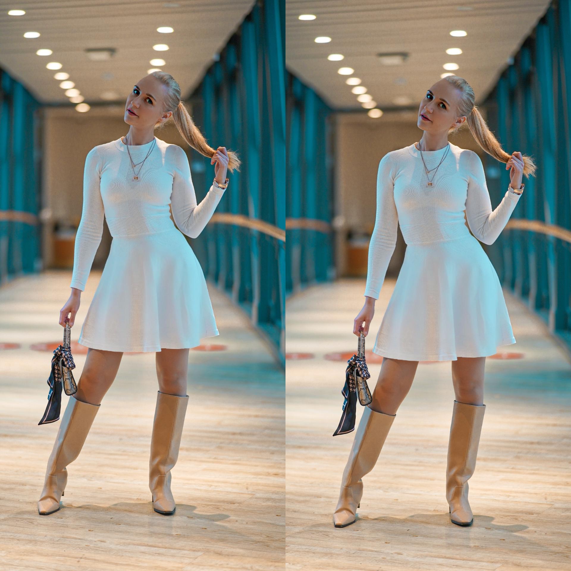 sandnes hvitt kjole