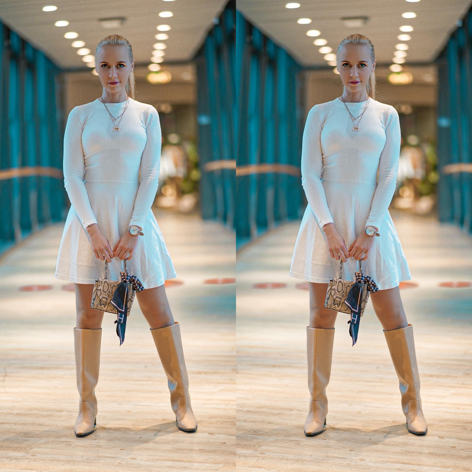 sandnes hvit kjole