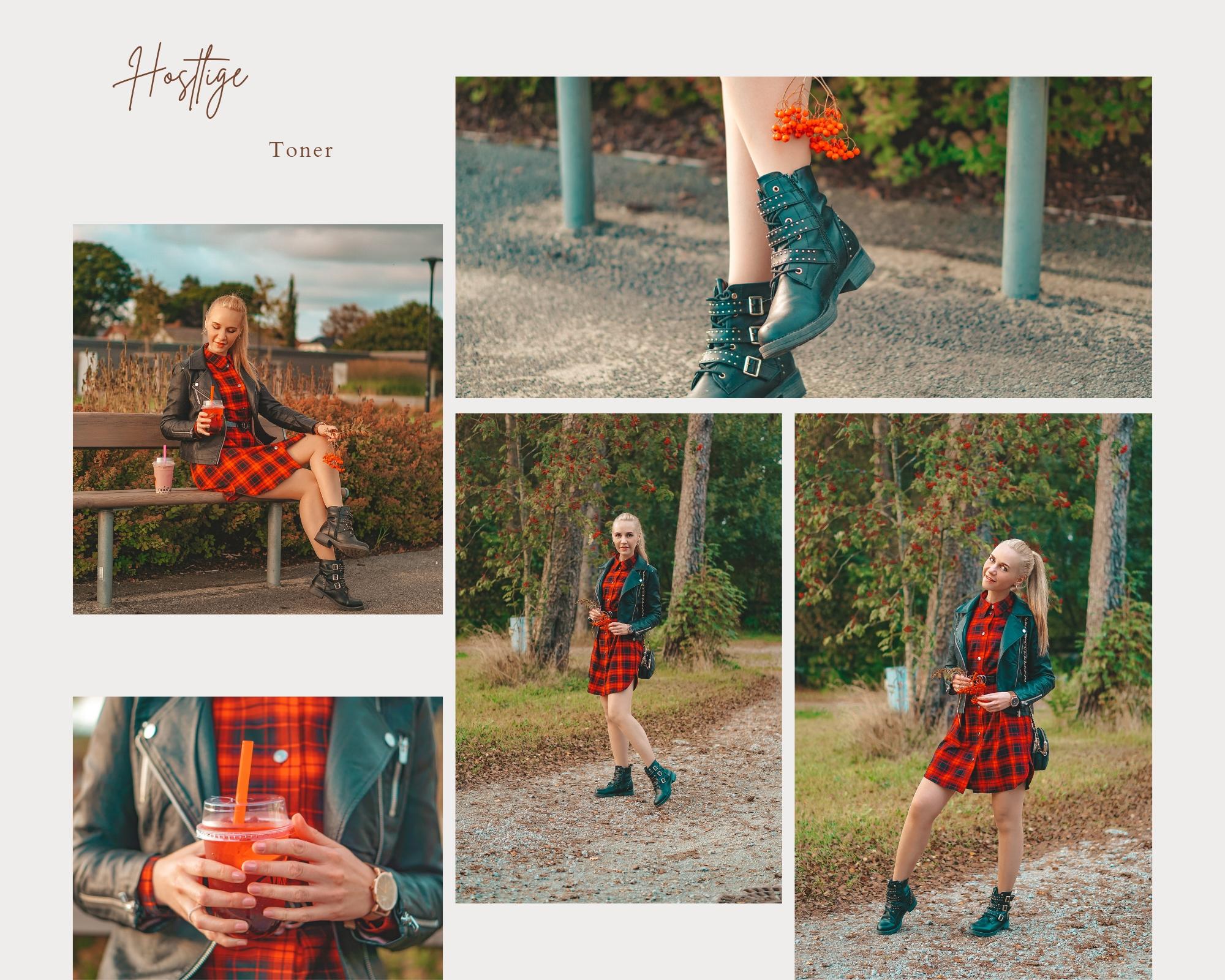 rød kjole høsten