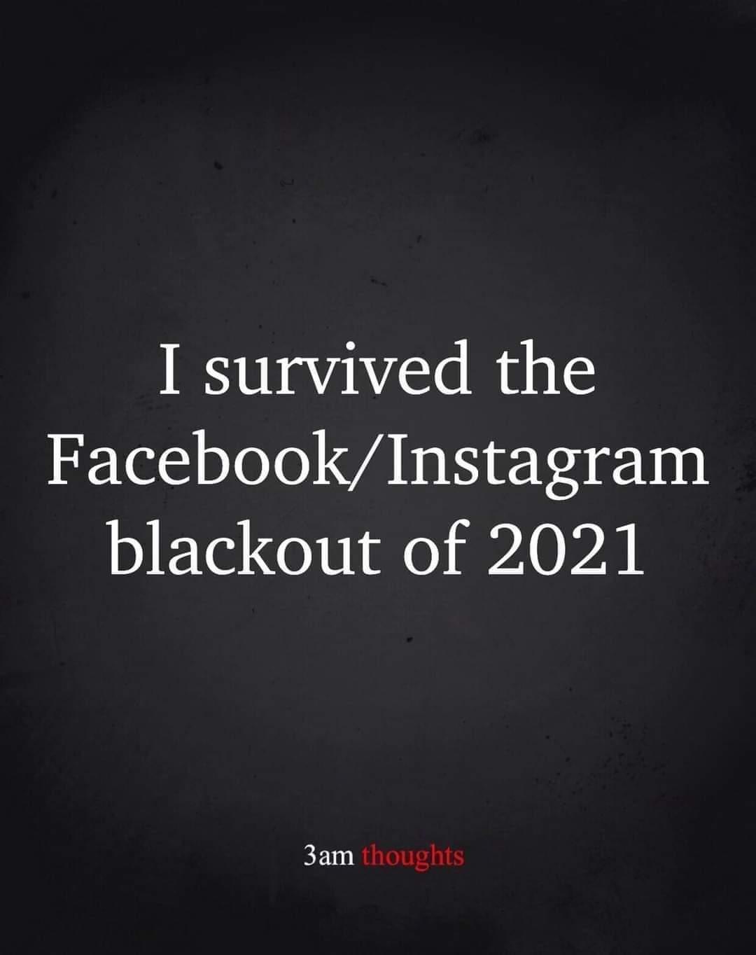 facebook blackout