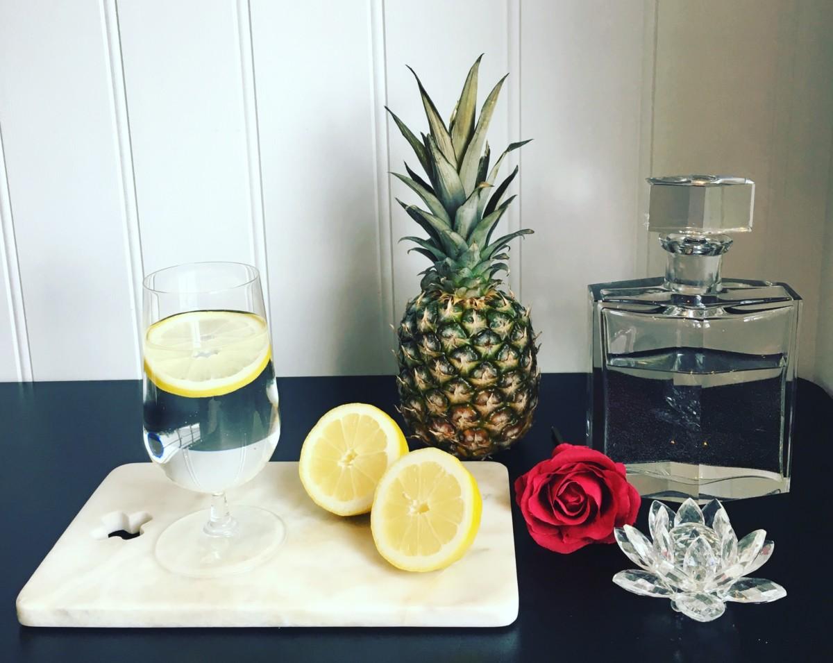 Vann med sitron
