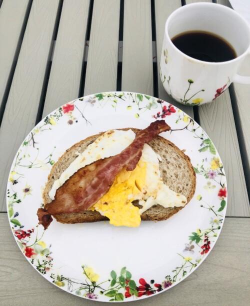 Grille egg og bacon