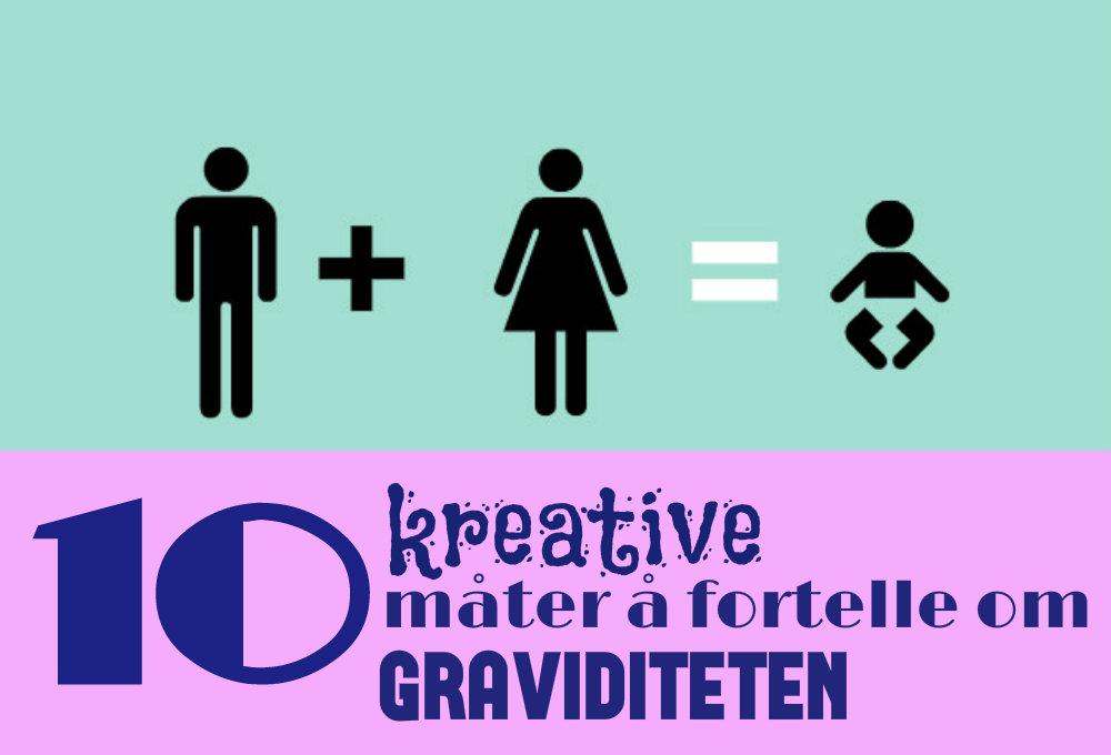 10 kreative måter å fortelle at du er gravid på Gravid
