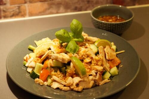 Thaisalat med kylling.