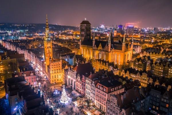 Det vakre julemarkedet i Gdańsk
