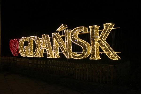 Julbelysning i Park Oliwski, Gdańsk