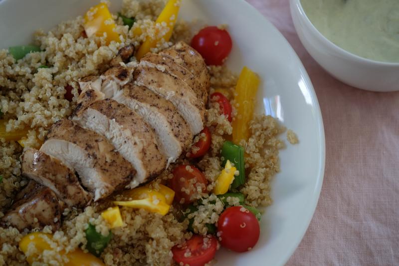 Saftig kylling med quinoa