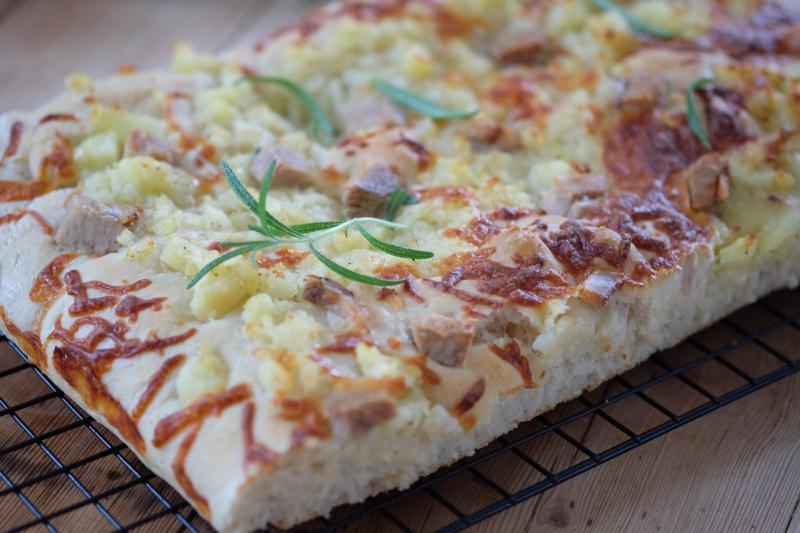 Focaccia-pizza