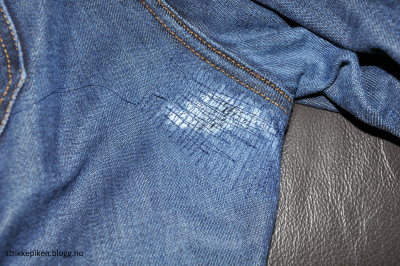 Strikkepiken – Bukse lapping