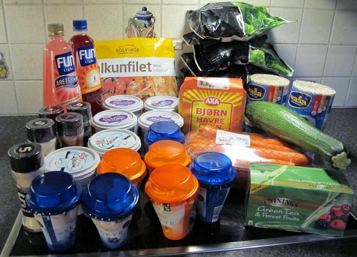 gå ned i vekt mat