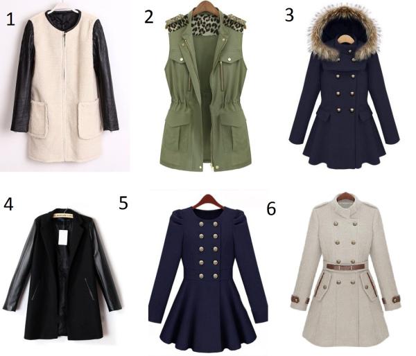 2e4db6f3 1. http://www.sheinside.com/White-Contrast-Leather-Cuff-Zipper-Pockets-Coat-p-102319-cat-1735.html  (273kr)