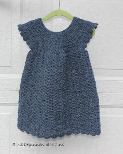 Kjole med hæklet bærestykke | Kjole, Hækling, Hækle