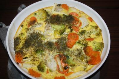 Mors Middag Torsk I Ovnen Med Grønnsaker Og Egg