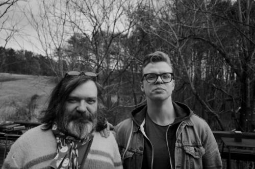 Døråpner og produsent Jim O´Rourke sammen med Kalle Moberg.m