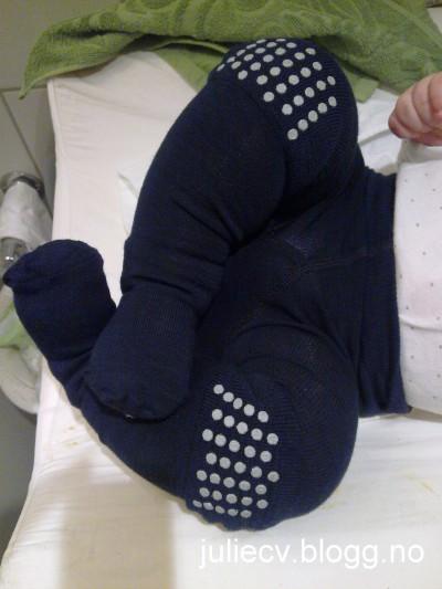 antiskli strømpebukser baby