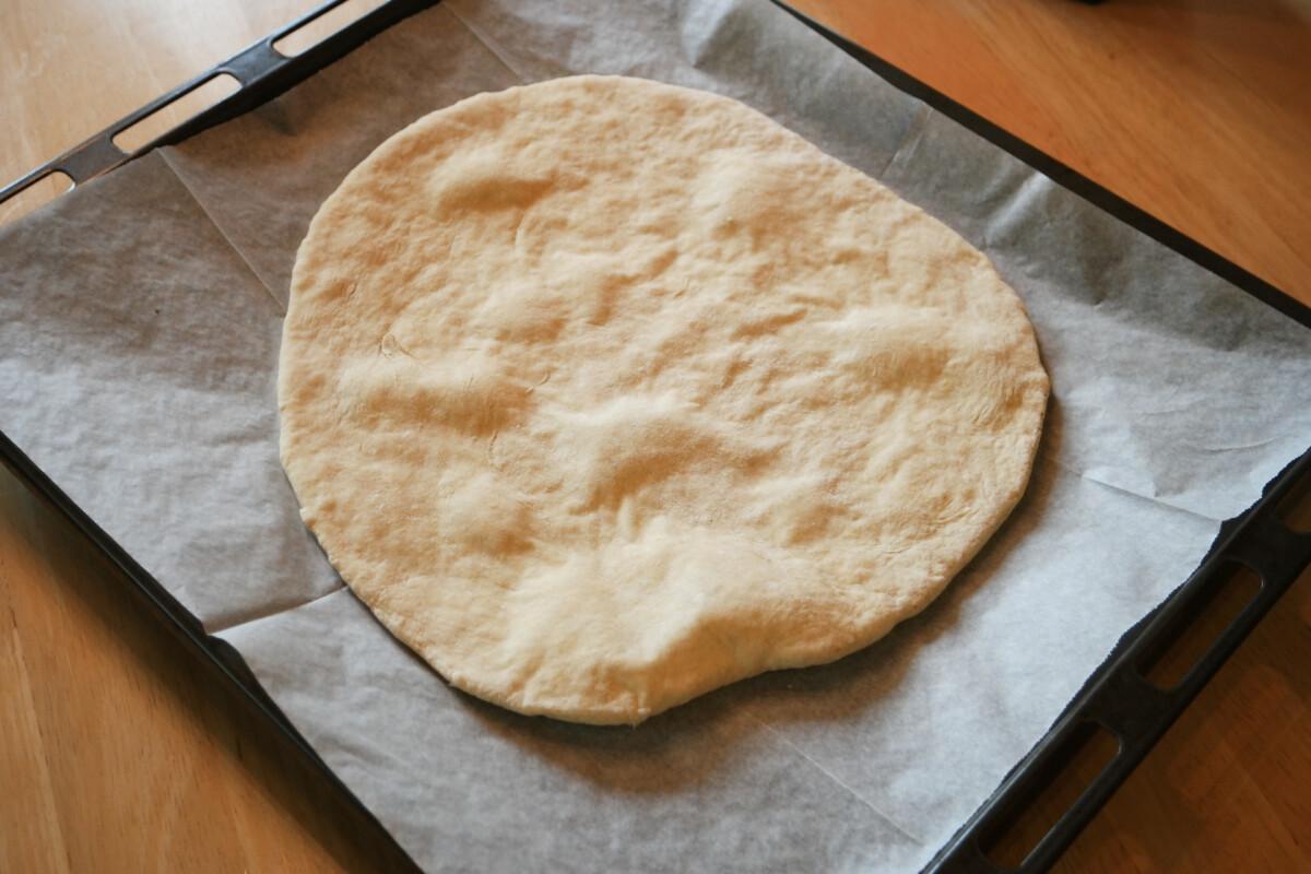 pizzabunn uten gjær mellomstekt