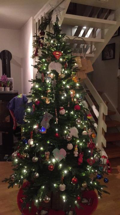 Bildet : pike, juletre, jul dekorasjon, kjole, leker