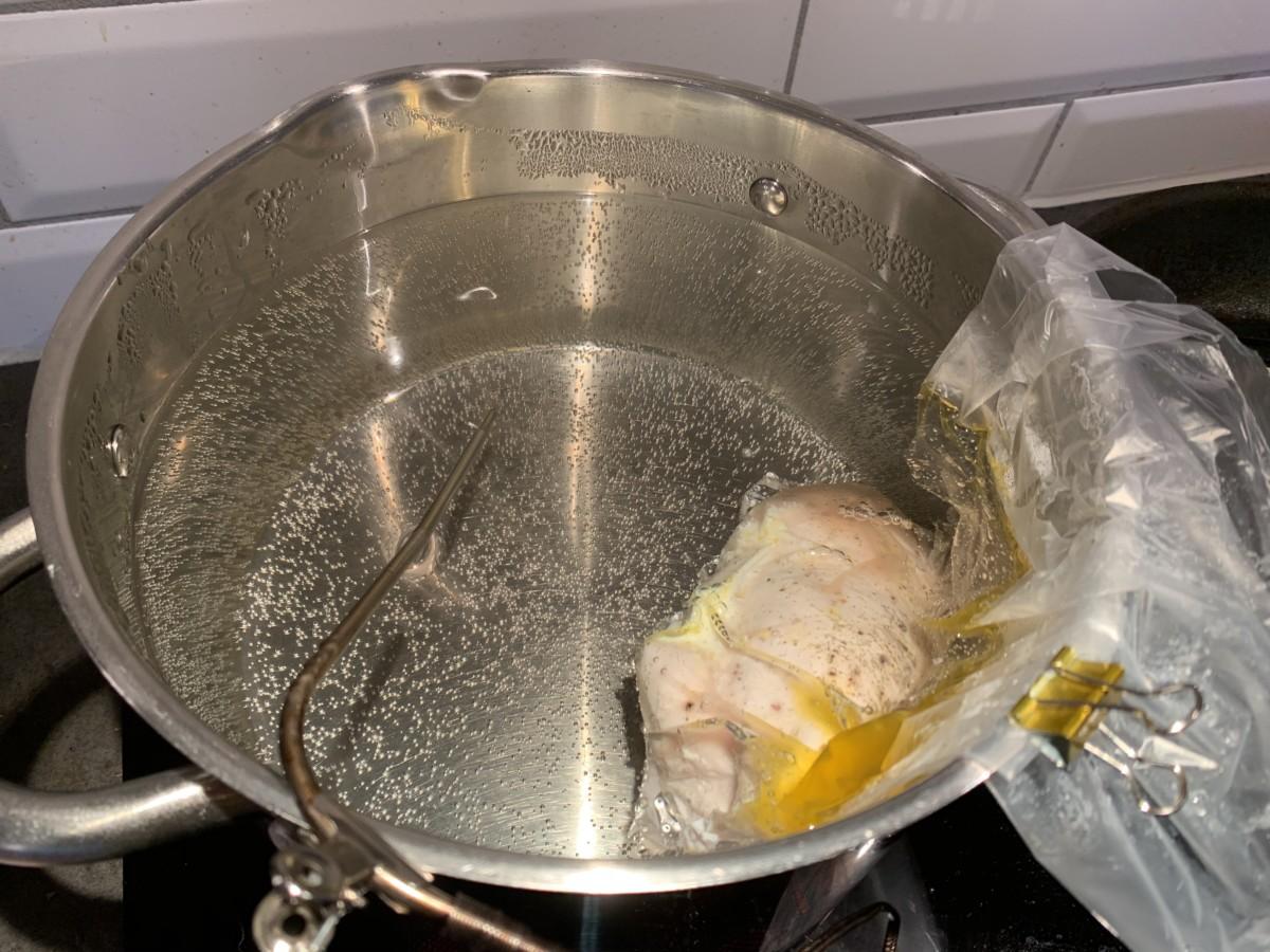 soud vide kyllingfilet