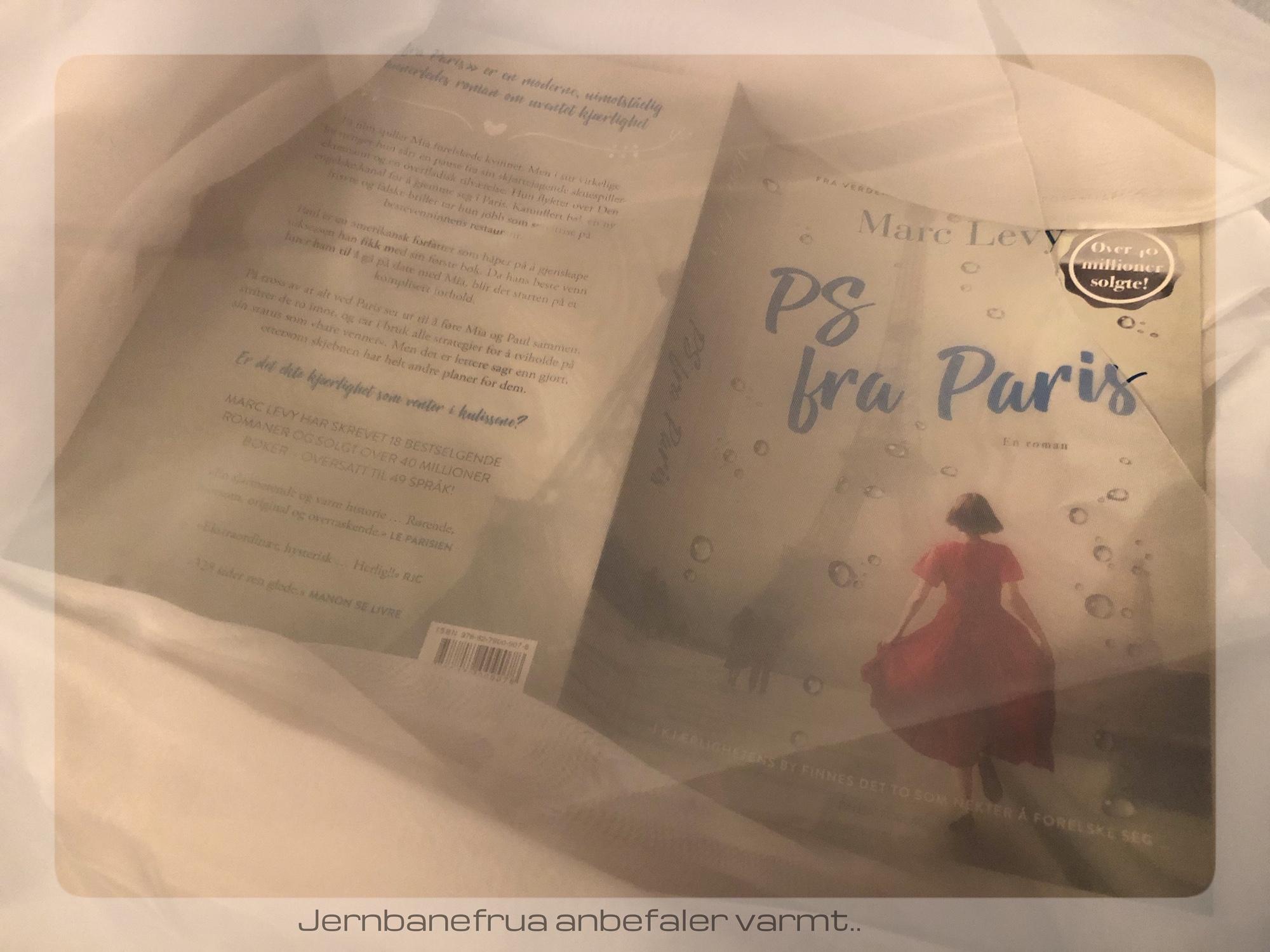 Jernbanefruas omtale av boken PS fra Paris skrevet av Marc Levy.