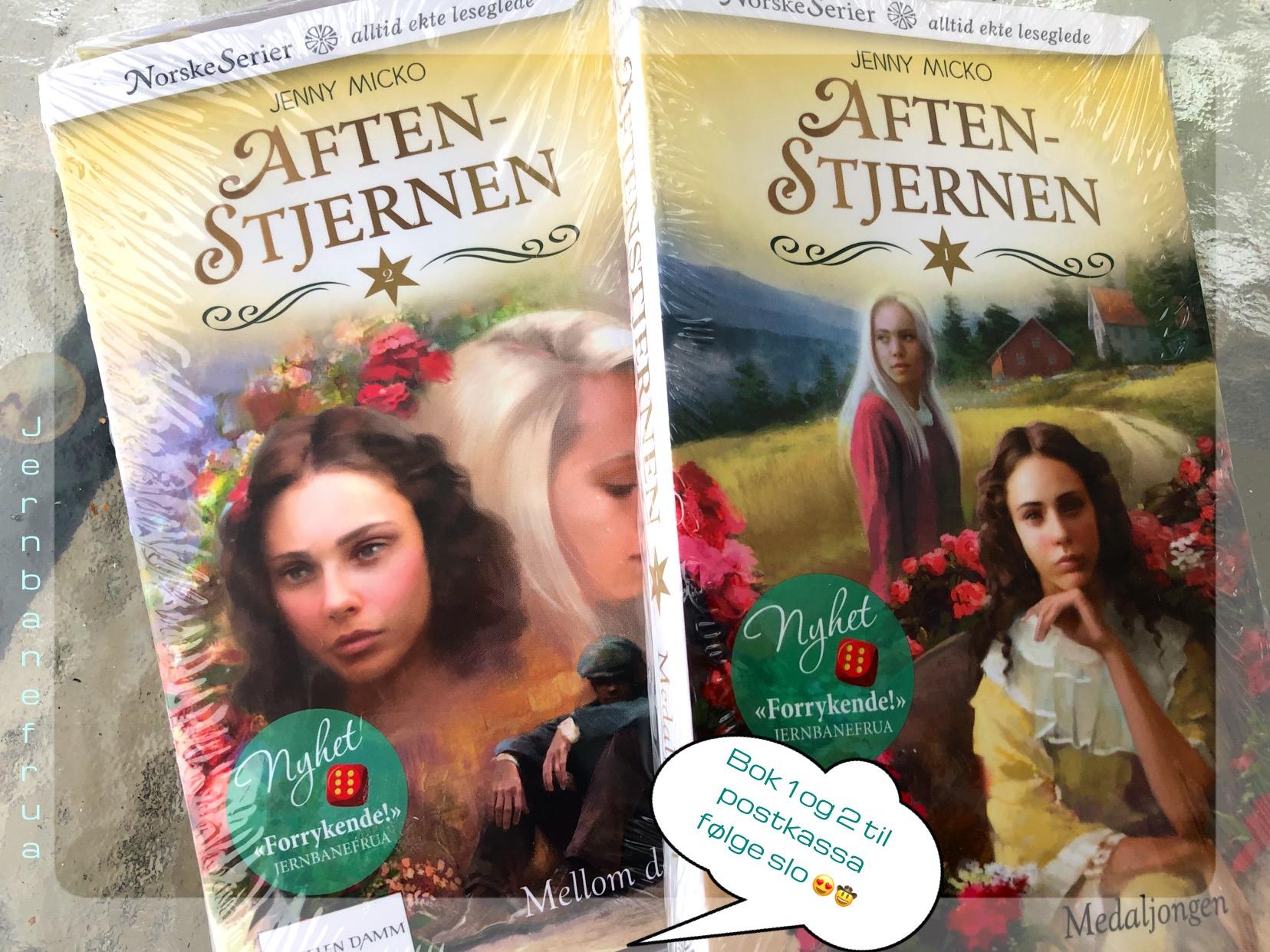 Jernbanefrua har fått bok 1 og 2 av Aftenstjernen i posten.
