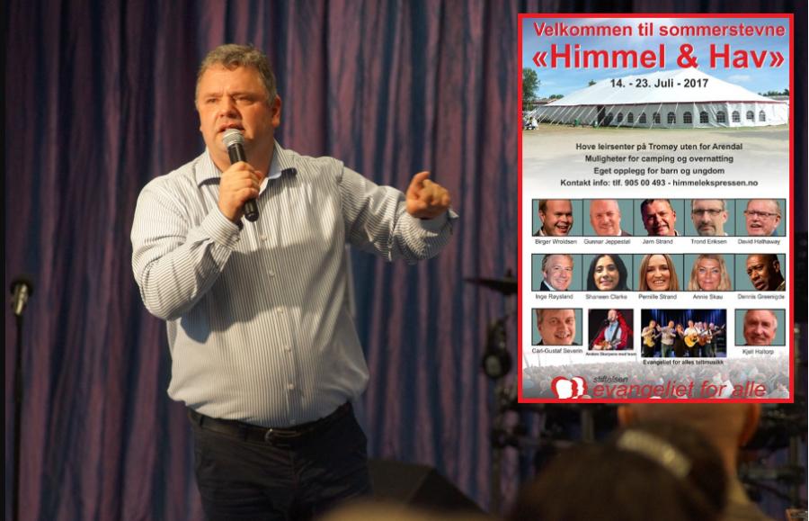 I Juli er det igjen klart for nytt sommerstevne med evangelist Jørn Strand (50). Det er i gang fra 14-23 Juli på Tromøya