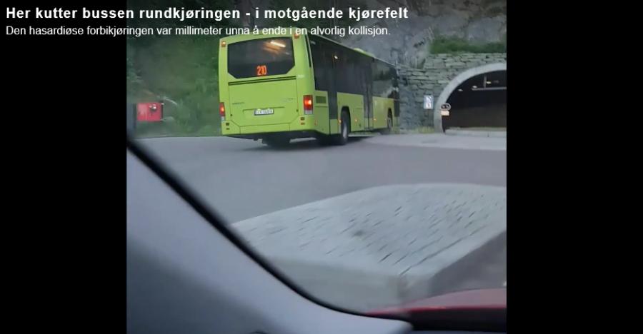 Nå er bussjåføren tatt ut av tjeneste etter hasardiøs buss-manøver i Juni