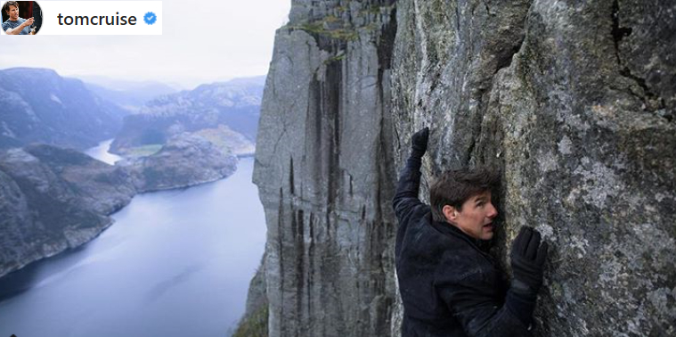 Preikestolen ble stengt i ni dager for Tom Cruise (55).Nå er traileren her!