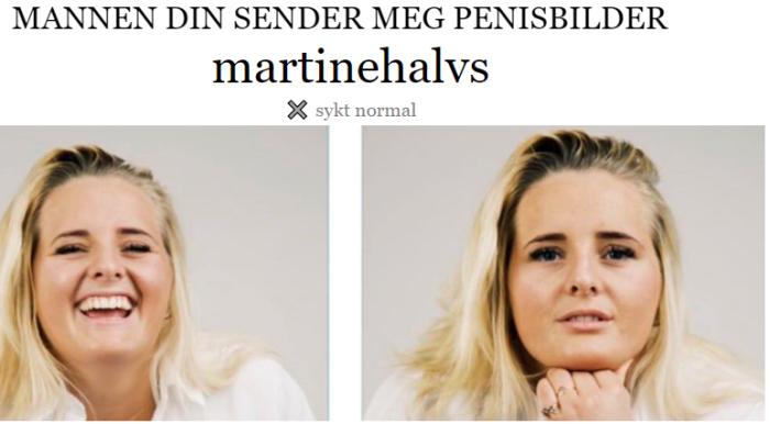 Toppblogger Martine Halvorsen (22) fikk penisbilder av tobarnspappa