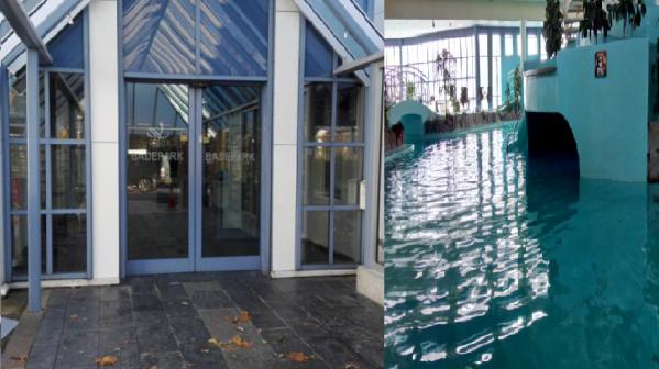Nu blir blir badeparken holdt stengt like før jul,og åpner igjen neste år