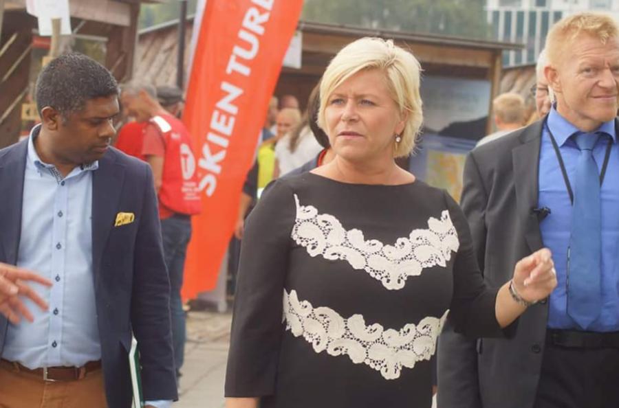 Finansminister Siv Jensen (Frp) har blitt sykmeldt ut denne uka