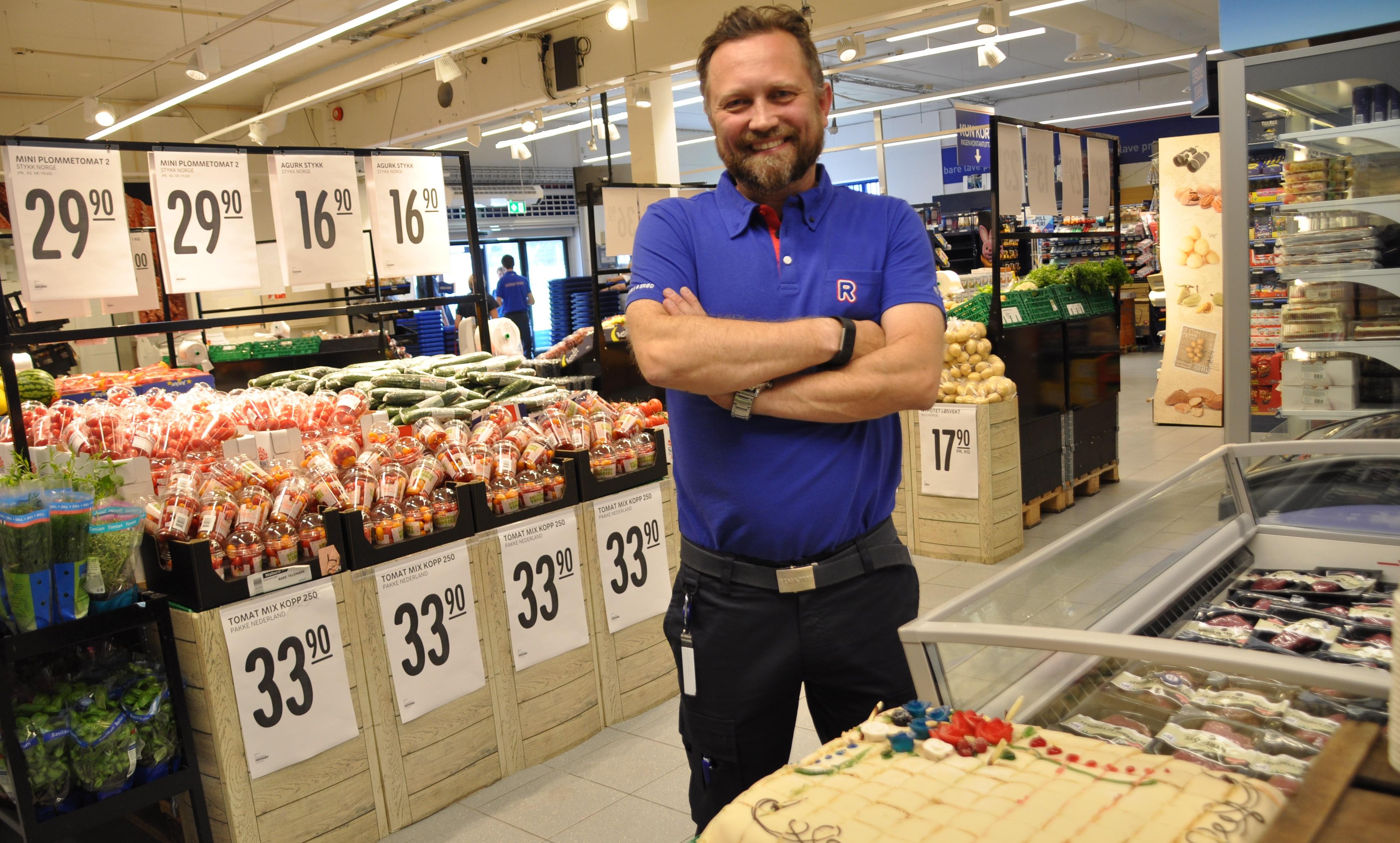 Idag ble Rema-1000 butikken til Stein Lysthaug åpnet etter å ha vært stengt