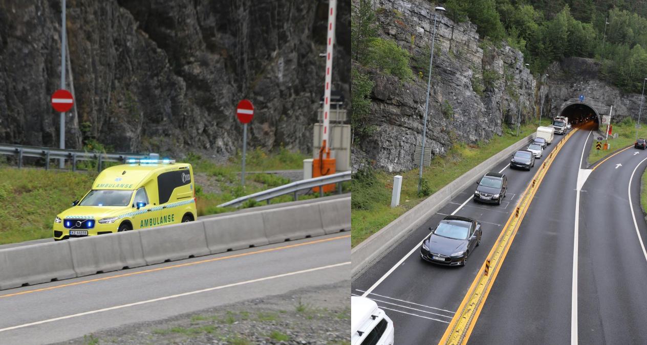 En dansk kvinnelig MC-fører  kolliderte med en bil. Ingen ble skadd i ulikken