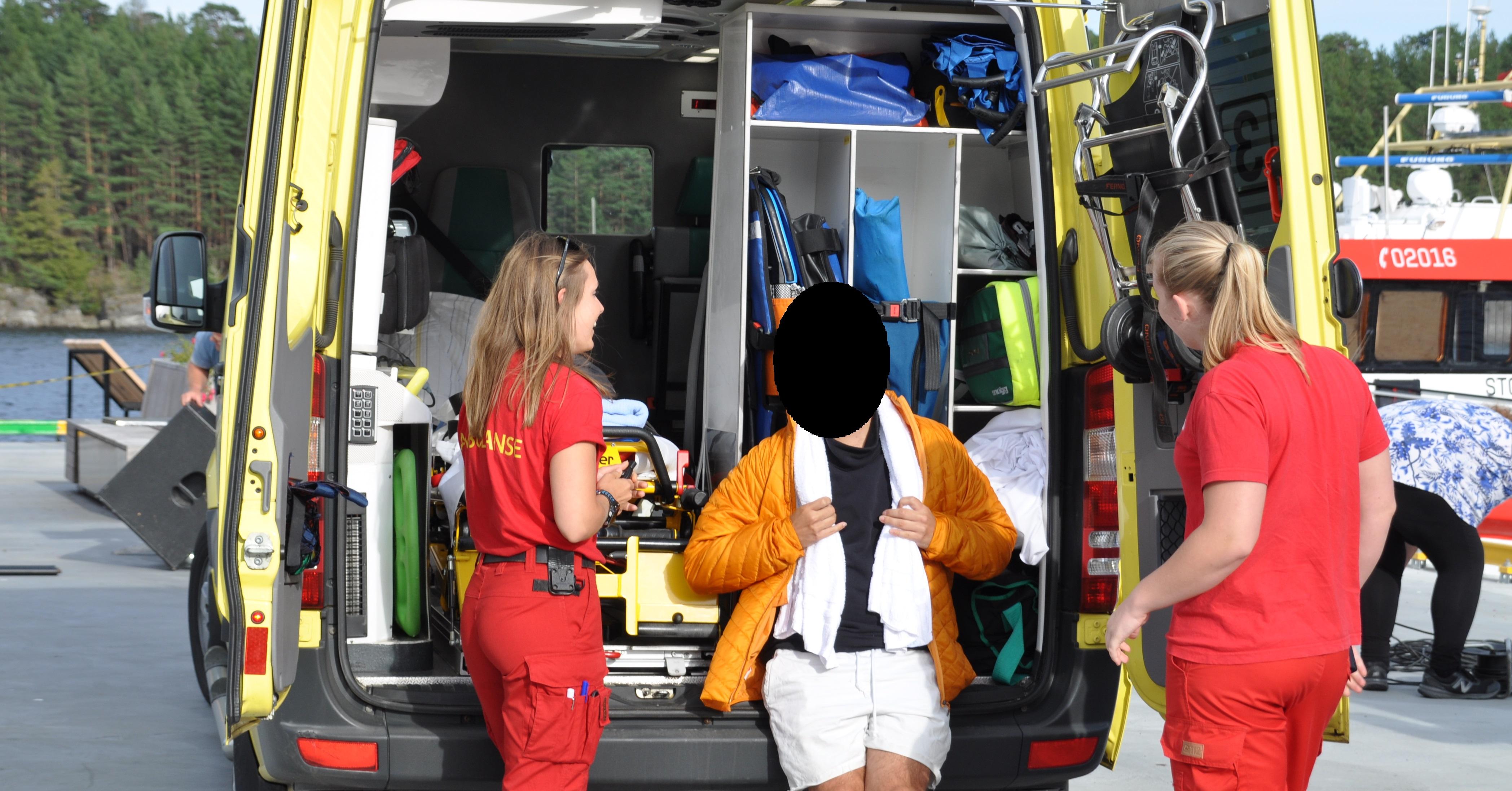 En av deltakerne i Camp Senkveld kom for en ulykke under TV-innspillingen i Langesund