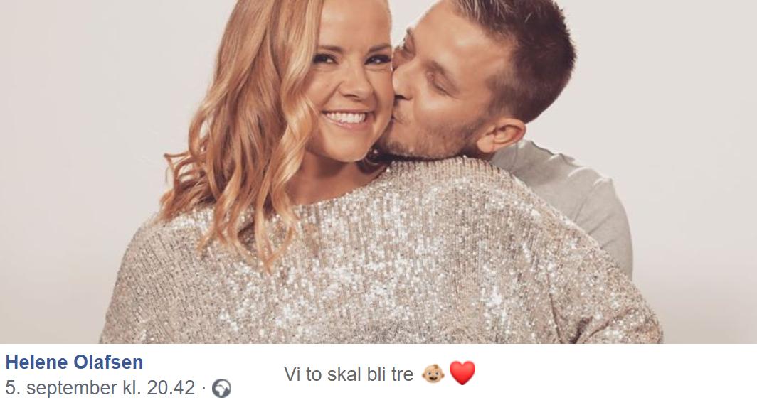 Programleder Helene Olafsen (29) og kjæresten Jørgen Nilsen (29) venter sitt første barn