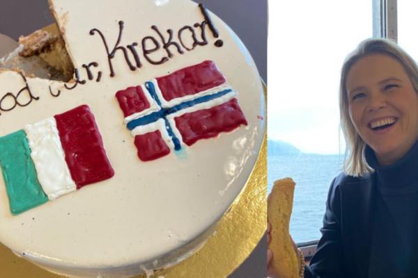 Mulla Krekar er endelig utlevert til Italia.Tidligere justisminister Sylvi Listhaug feiret utleveringen med kake. Kom aldri tilbake!
