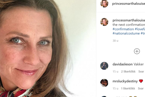 En av prinsesse Märtha Louises to instagramkontoer er borte. Hennes sekretær sier den er hacket
