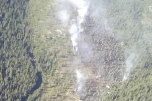 Skogbrannfly på vei til brann
