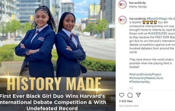 To tenåringsjenter ble de første kvinnelige til å vinne det årlige sommerdebatt-konkurranse