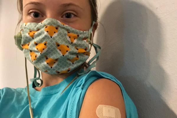 Da har Greta Thunberg ( 8 ) tatt første dose med coronavaksine